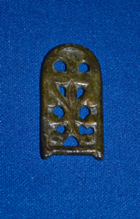 A lovely quality Viking bronze openwork strap end from Yorkshire. SOLD